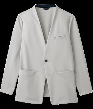 AIJ302 ノーカラーニットジャケット(男女兼用)