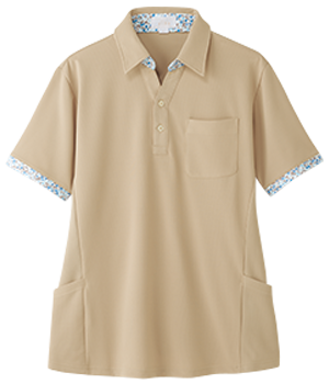 AIK302 半袖スキッパーニットシャツ(男女兼用)