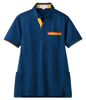 AIK306 半袖スキッパーニットシャツ(男女兼用)
