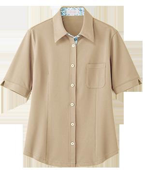 AIY202 レディース半袖ニットシャツ