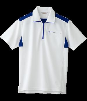 CXK312 半袖ジップアップニットシャツ(男女兼用)