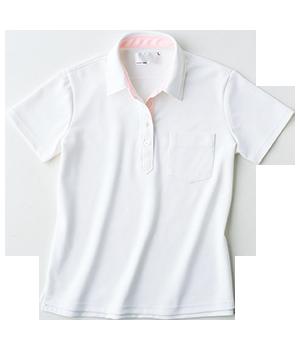 HAK217 レディス半袖ニットシャツ