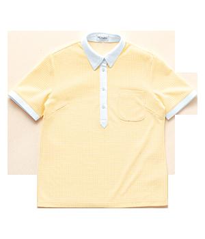 PK252 レディース半袖ニットシャツ