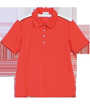 PK272 レディース半袖ニットシャツ